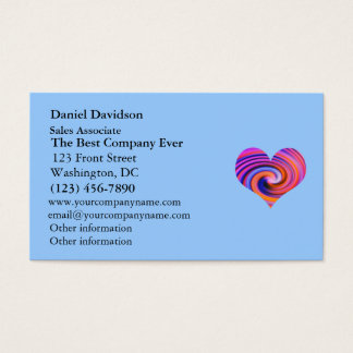 Color Swirl Heart Design Business Card