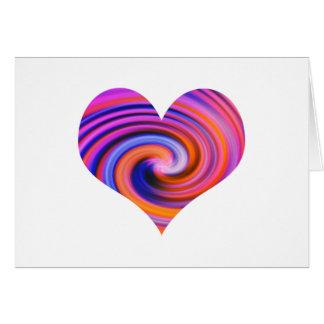 Color Swirl Heart Design Card