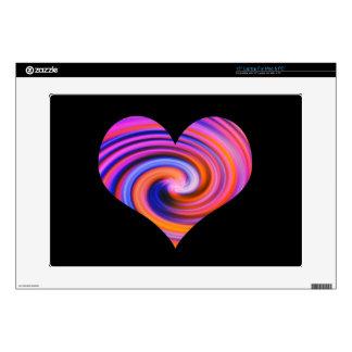 Color Swirl Heart Design Laptop Skin