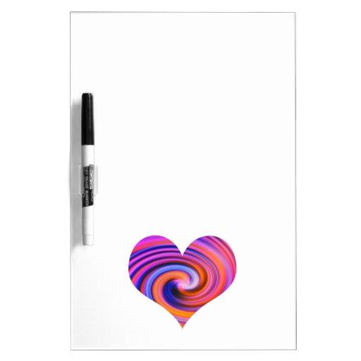 Color Swirl Heart Dry-Erase Whiteboard