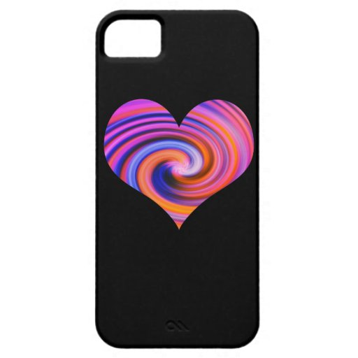 Color Swirl Heart iPhone 5 Case
