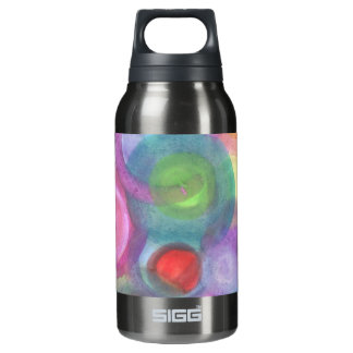 Color Swirl Insulated Water Bottle
