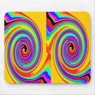 COLOR SWIRL LOLLY POP MOUSE PADS