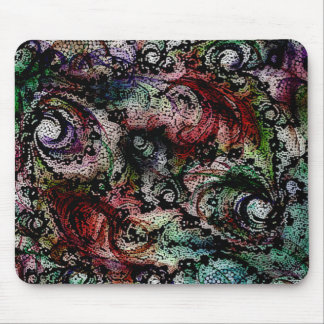Color swirl of universal peace mouse pad