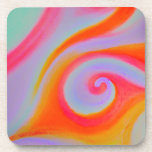 Color Swirl Painting Coaster
