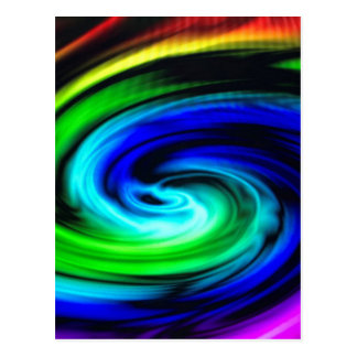 color swirl pattern postcard