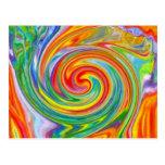 Color Swirl Postcard