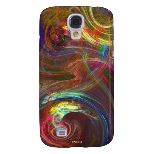 COLOR SWIRLS Abstract Fractal Design Samsung Galaxy S4 Case