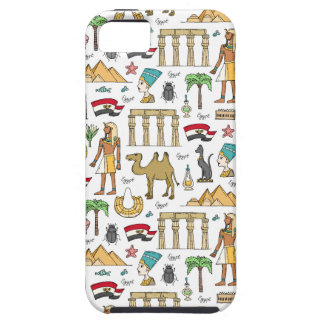 Color Symbols of Egypt Pattern iPhone SE/5/5s Case