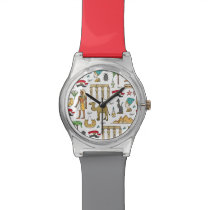 Color Symbols of Egypt Pattern Wrist Watch