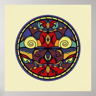 Color Symmetry Wall Art Print