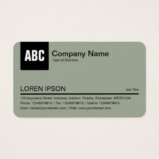 Color Tab - Black and Warm Gray a3ac99 Business Card