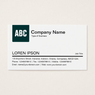 Color Tab - Dark Moss Green Business Card