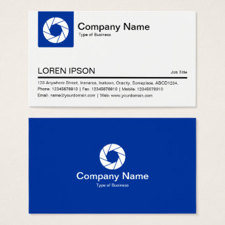 Color Tab - Navy - White Aperture symbol Business Card