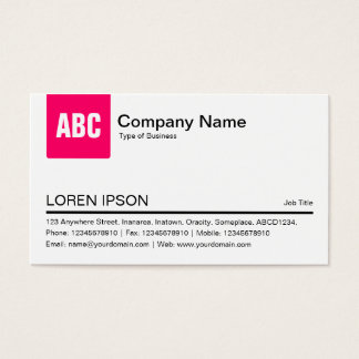 Color Tab - Neon Red Business Card