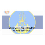 Color tailandés real de la unidad de fuerza aérea, tarjeta de visita