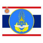 Color tailandés real de la unidad de fuerza aérea, tarjetas postales