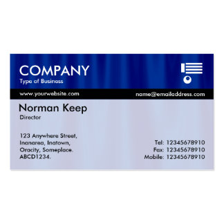 Color Tex Banded - Midnight Curtains Business Card