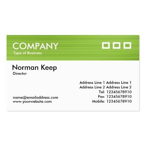 Color Textured Header - Brushed Green Business Card