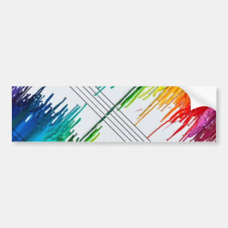 Color The Music or Music the Color Bumper Sticker