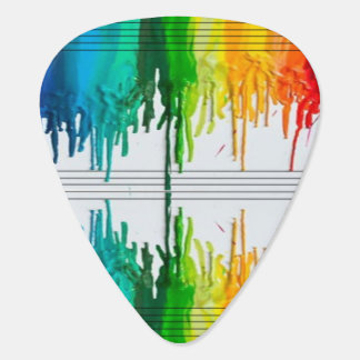 Color The Music or Music the Color Guitar Pick