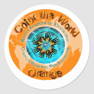 Color the World Orange - CRPS Dual Ice Circlet.png Classic Round Sticker
