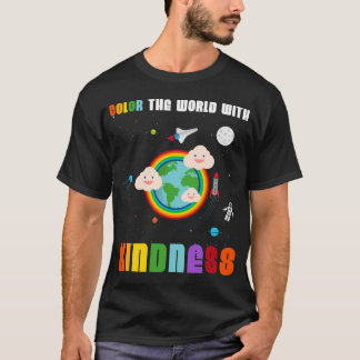 Color The World With Kindness Rainbow Kawaii Tee