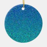 Color Theory : Cool Harmony Christmas Tree Ornaments