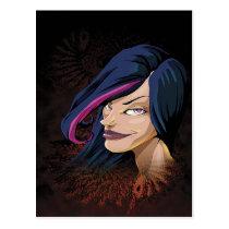 artsprojekt, comic book, comics, art, anime style art, cartoon, content with kaos, cool, beautiful, woman, Postcard with custom graphic design