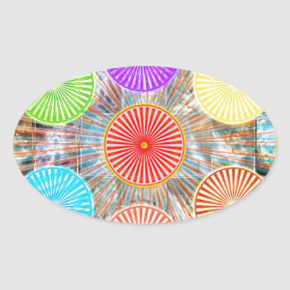 Color Therapy Graphics : Healing Energy Chakra Oval Sticker