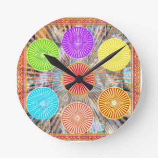 Color Therapy Graphics : Healing Energy Chakra Round Clock