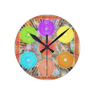 Color Therapy Graphics : Healing Energy Chakra Round Wallclocks