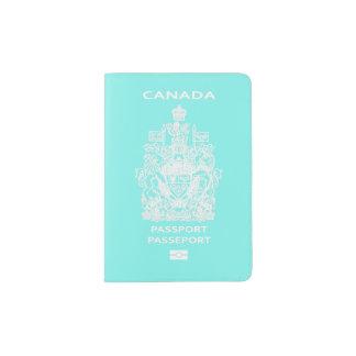 Color/Tiffany de PixDezines DIY azul/canadiense Porta Pasaporte