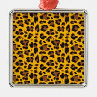 color tiger metal ornament