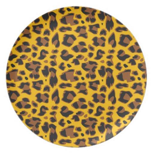 color tigre platos para fiestas