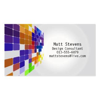 Color Tile Grid Violet Brown Business Card