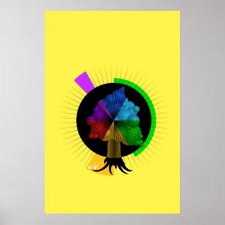 Color-Tree graphic design poster
