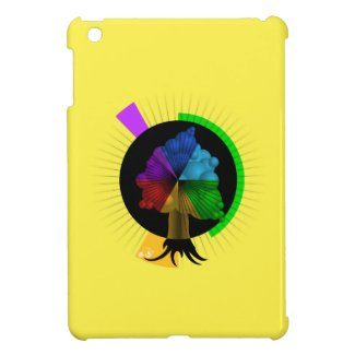 Color-Tree graphic iPad Mini case