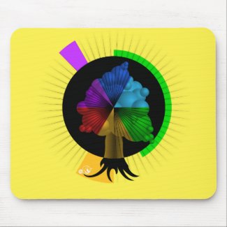 Color-Tree graphic mouse-pad Mouse Pads