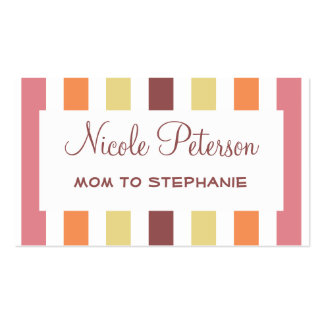 Color Trend Marsala Mommy Card Double-Sided Standard Business Cards (Pack Of 100)
