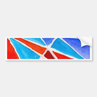 Color Triangles Bumper Sticker