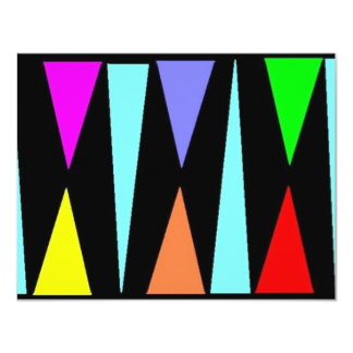Color Triangles Card