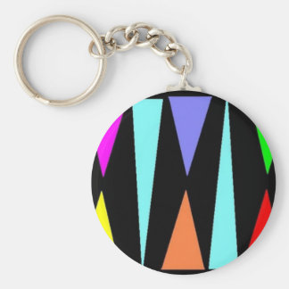 Color Triangles Keychain