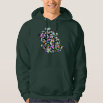 Color Triangles Pattern Hoodie