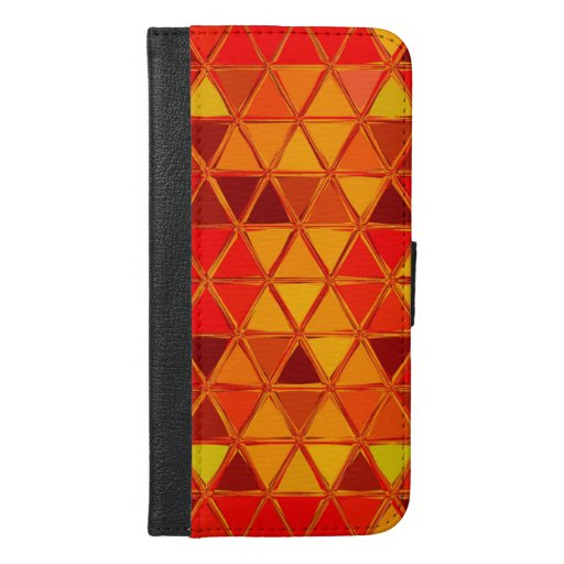 Color Triangles Pattern iPhone 6/6s Plus Wallet Case