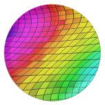 Color tropical de la mezcla, placa de cerámica del platos