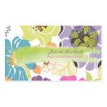 Color tropical retro del alegre flowers/DIY de Tarjetas De Visita