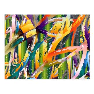 Color Tubes Postcard