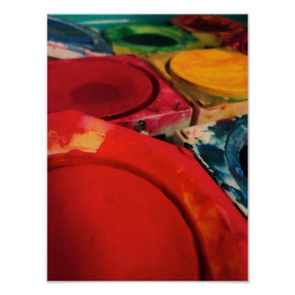 Color Tusche Indian Ink Paint Boxes Watercolor Art Poster