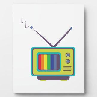 Color TV Plaque